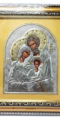 Beautiful-Acrylic-Silver-Gold-HOLY-FAMILY-Baby-Jesus-Wall-Icon-JERUSALEM-9-0