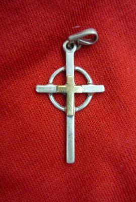 Beautiful-Crucifix-Cross-Silver-925-Pendant-12-with-9k-Gold-From-Holy-Land-0