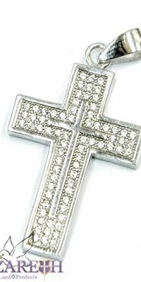 Catholic-Cross-Pendant-Sterling-Silver-925-with-Zircon-Crystals-1-Holy-Land-0