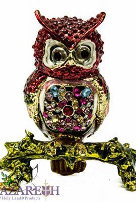 Colorful-Owl-Bejeweled-Zircon-Crystals-Enamel-Trinket-Box-Statue-Figurine-4-0