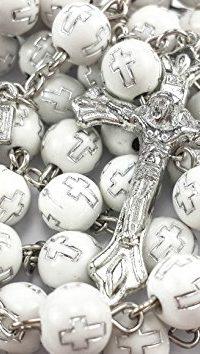 Crosses-Acrylic-Beads-Rosary-Catholic-Necklace-JERUSALEM-Cross-INRI-CRUCIFIX-0
