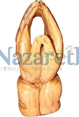Hand-Carved-Olive-Wood-35-Praying-Hands-Statue-Figure-From-Holy-Land-0