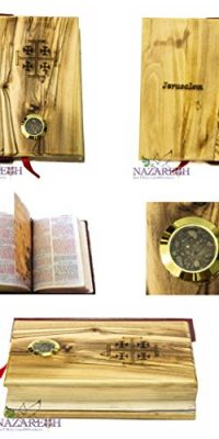 Hand-Carved-Olive-Wood-Millennium-Bible-with-Holy-Soil-Jerusalem-Cross-Holy-Land-0