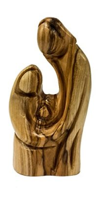 Hand-Carved-Olive-Wood-Statue-Figure-Holy-Family-Virgin-Mary-Jesus-Nazareth-0