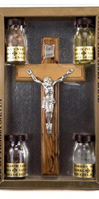 High-Quality-Holy-Land-Set-Kit-Holy-Water-Soil-Frank-Ladan-Oil-Olve-Wood-Cross-0