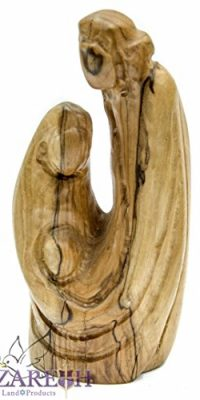 Holy-Family-Faceless-Olive-Wood-Statue-Carved-Figure-57-Handmade-Nazareth-0