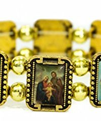 Holy-Saints-Jerusalem-Bracelet-Golden-Metal-Flexible-Unisex-Ornament-Holy-Land-0