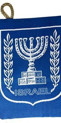 Israel-Menorah-Symbol-Jewish-Blue-Pouch-Bag-Banner-Case-From-Jerusalem-57-0