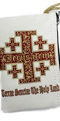 Jerusalem-Cross-Rosary-Icon-Pouch-Tapestry-Prayer-Keepsake-Holy-Land-Case-57-0