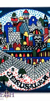 Jerusalem-Display-Ceramic-Fridge-Magnet-3-Armenian-Design-From-Holy-Land-0