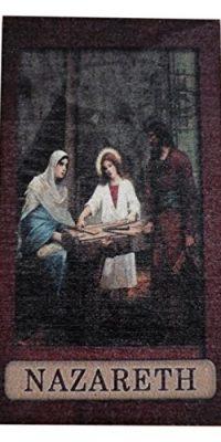 Jesus-Carpenter-Holy-Family-Handmade-Souvenir-Wooden-Magnet-From-Nazareth-0
