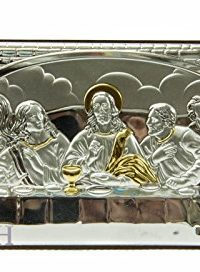 Last-Supper-Of-Jesus-65-Sterling-Silver-950-9K-Gold-Icon-Plaque-Holy-Land-0