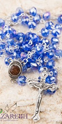 Marvelous-Blue-Crystals-Rosary-Catholic-Necklace-Holy-Soil-Medal-Jesus-Cross-0