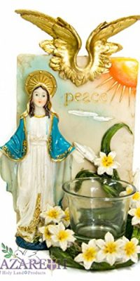 Miraculous-Virgin-Mary-Candle-Holder-Peace-Holy-Place-Madonna-Statue-Nazareth-0