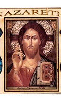Olive-Wood-Jesus-Teacher-Handmade-Holy-land-Gift-Holy-Water-Oil-Icon-Magnet-0