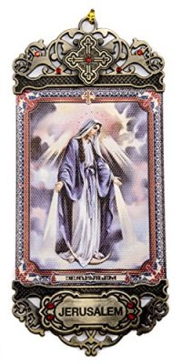 Our-Lady-of-Divine-Grace-Providence-Wall-Hanging-Tapestry-Icon-Textile-Banner-With-red-Zircon-stones-From-Jerusalem-0