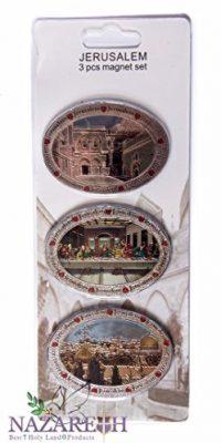 Oval-Jesus-Last-Supper-Holy-Places-3-pcs-Magnet-Set-Holy-Land-Souvenir-0