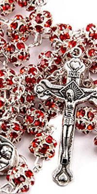 Red-Zircon-Crystals-Beads-Rosary-Catholic-Necklace-Holy-Soil-Medal-Crucifix-0