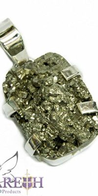 Silver-925-Pendant-Silver-Druzy-Natural-Amethyst-Rough-Stone-Handmade-Jerusalem-0