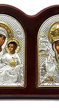 St-Nicholas-Virgin-Mary-Of-Jerusalem-Triptych-Silver-Icon-Russian-Greek--0