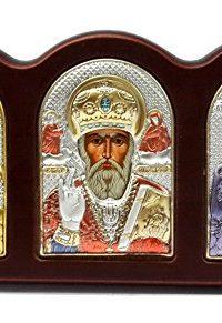 St-Nicholas-Virgin-Mary-Triptych-Silver-950-Icon-Jerusalem-Russian-Greek--0