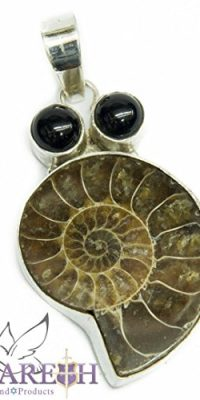 Sterling-Silver-925-Pendant-with-Ammonite-Onix-Natural-Stones-Handmade-0