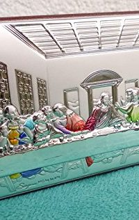 Sterling-Silver-Icon-925-icon-The-Last-Supper-Made-In-Jerusalem-HOLY-LAND-0