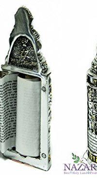 Torah-Scroll-Chumash-Pentateuch-Silver-Plated-Opening-Judaica-Book-Jerusalem-0