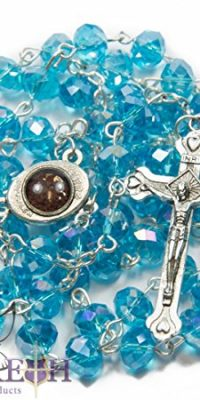 Turquoise-Crystal-Beads-Rosary-Catholic-Necklace-Holy-Soil-Medal-with-Crucifix-0
