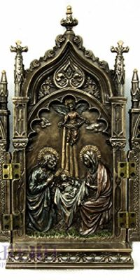 Unique-Chapel-Holy-Family-Triptych-Statue-Jesus-Nativity-Handmade-Jerusalem-85-0