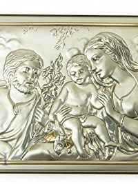 Unique-Holy-Family-Icon-Italian-Silver-950-With-9K-Gold-Handmade-67-Jerusalem-0