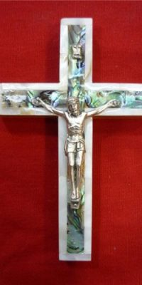 Unique-Shell-Cross-Silver-Plated-Jesus-Crucifix-Hand-Made-Jerusalem-Holy-Land-0