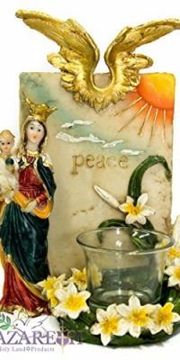 Virgin-Mary-Holding-Baby-Jesus-Candle-Holder-Peace-Holy-Place-Statue-Nazareth-0