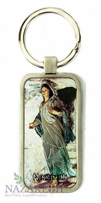 Virgin-Mary-Nazareth-Gift-Keychain-Catholic-Key-Ring-Holy-Land-Charm-24-0
