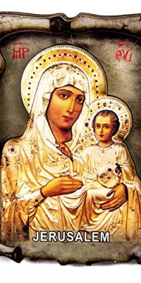 Virgin-Mary-Of-Jerusalem-with-Baby-Jesus-Wooden-Magnet-Holy-Land-Souvenir-3-0