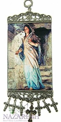 Blessed-Virgin-Mary-Madonna-Hanging-Tapestry-Icon-Textile-Banner-Holy-Land-106-0