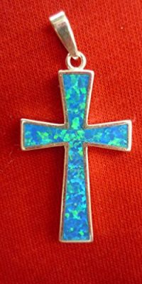 Cross-Crucifix-Pendant-Handmade-of-Silver-925-with-Opalite-Stone-From-Holy-Land-0