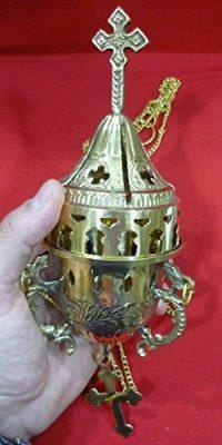Jerusalem-Incense-Burner-98-Catholic-Church-Censer-Polished-Brass-Holy-Land-0