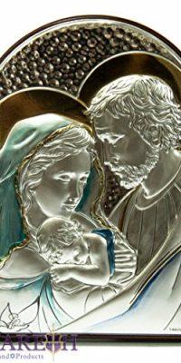Jesus-Catholic-Silver-925-Italian-Icon-Holy-Family-Virgin-Mary-Joseph-44-0