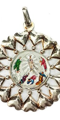Round-Russian-Silver-925-Ascension-of-Jesus-Scene-Pendant-With-Hearts-Jerusalem-0
