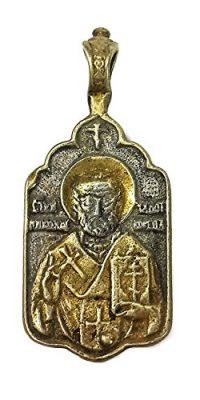 Russian-Silver-925-Gold-Saint-Nikolai-St-Nicholas-Pendant-NR-Jerusalem-1-0