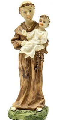 Saint-Antonio-De-Padua-Resin-Statue-Hand-Painted-Figure-From-Holy-Land-55-0
