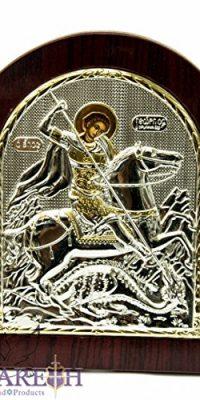 Saint-George-Icon-Sterling-Silver-925-Holy-StGeorge-Ikona-Handmade-Jerusalem-0