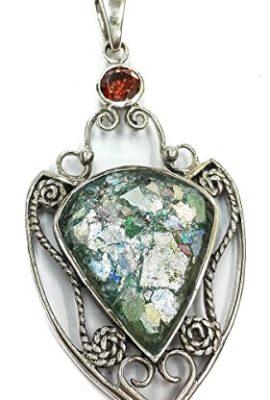 Amazing-Roman-Glass-Silver-925-Pendant-Handmade-With-Red-Garnet-Crystal-2-0