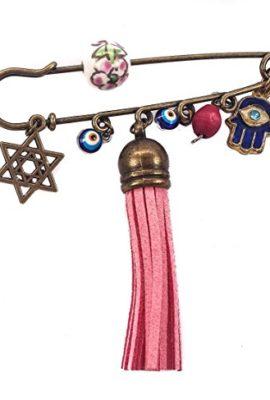 Bronze-Hamsa-Charm-Pin-Stroller-Star-Of-David-Flower-Beads-Evil-Eye-Protection-0