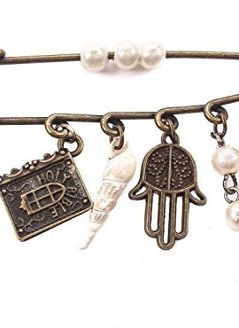 Bronze-Hamsa-Cross-Bible-Charms-Pin-Stroller-Pearl-Beads-Evil-Eye-Protection-0