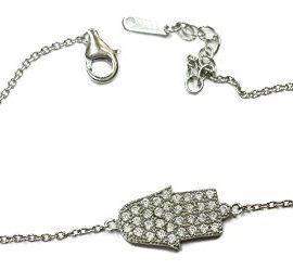 Delicate-925-Sterling-Silver-Hamsa-Evil-Eye-Bracelet-Cubic-Zirconia-Crystals-0