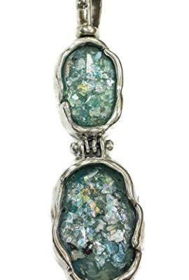 Folding-Natural-Roman-Glass-Silver-925-Pendant-Handmade-Jewelry-Jerusalem-2-0