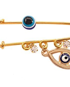 Gold-Plated-Pin-Stroller-Baby-Charm-Hamsa-Evil-Eye-Protection-Amulet-Zircons-0