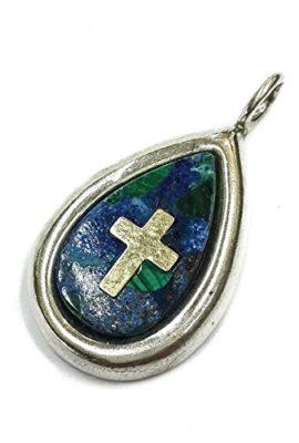 King-Solomon-Eilat-Stone-Silver-925-Pendant-Gold-14k-Cross-from-Jerusalem-12-0